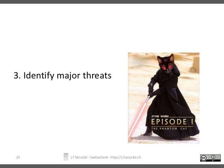 3. Identify major threats<br />L7 Sécurité - Switzerland - http://L7securite.ch<br />25<br />