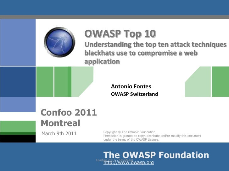 The top 10 web application intrusion techniques
