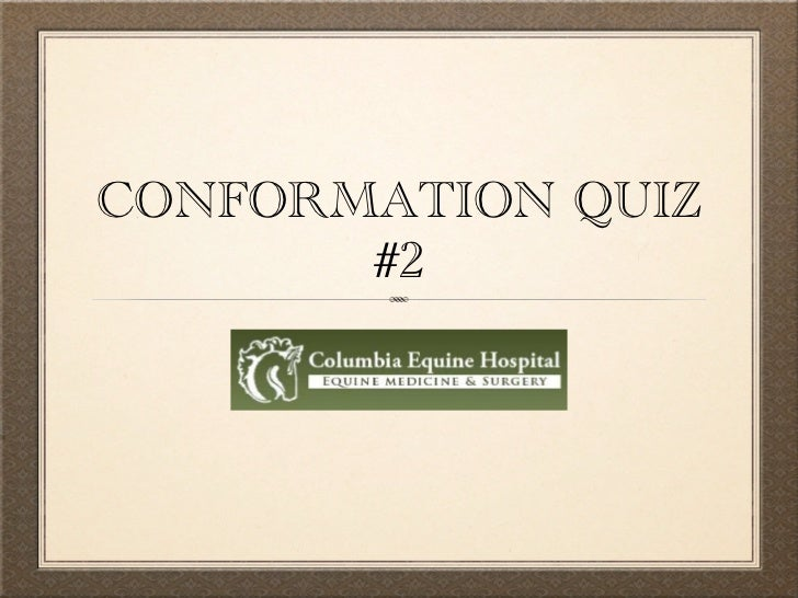 CONFORMATION QUIZ       #2