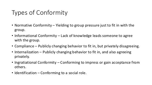 synthesis on group conformity essay Conformity essay essaysuse some psychological studies of conformity to discuss reasons for conforming according to leon mann, conformity means 'yielding to group.