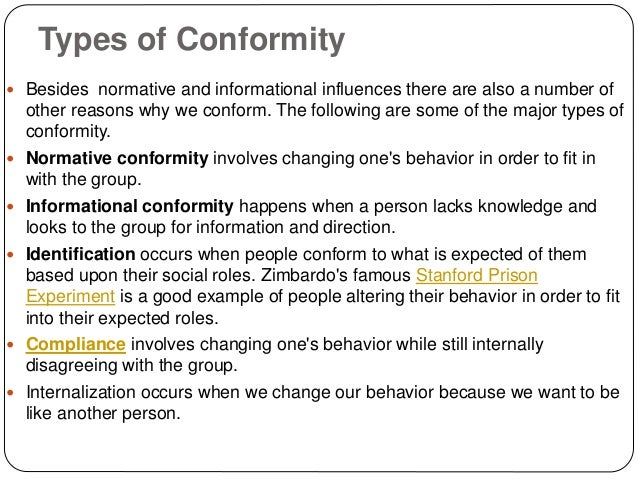 reasons for conformity