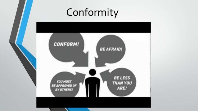 conformity as a psychological concept Social influence refers to the ways compliance & conformity the concept of while both conformity and obedience share the same psychological need to.