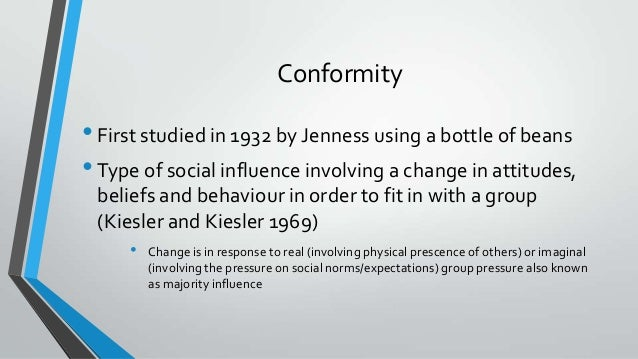 conformity is a type of social Lecture 05 - social psych conformity (adapted from the social animal meyers michener et al vander zanden)  1 definitions  conformity = a change in behavior or belief as a result of real or imagined group pressure.
