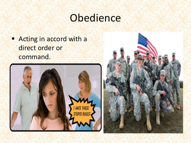 obedience conformity and compliance Social influence refers to the ways in which external factors trigger change in an individual it.