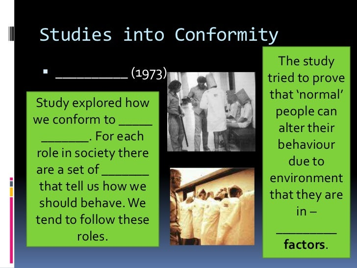 why we conform to groups Conformity in groups: the effects of others' views  those who surround us  have a profound influence on how we understand the world.