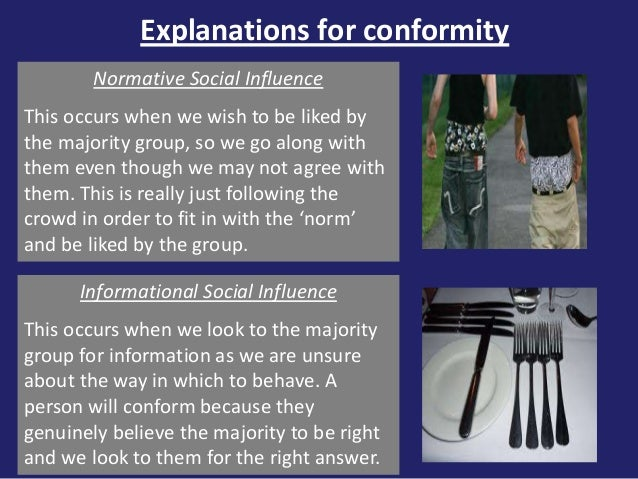 explanations of conformity Revision sheet outlining explanations of conformity this website and its content is subject to our terms and conditions.