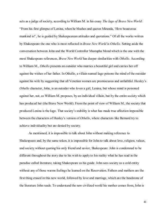 brave new world essay pdf