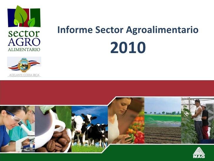 Informe Sector Agroalimentario  2010