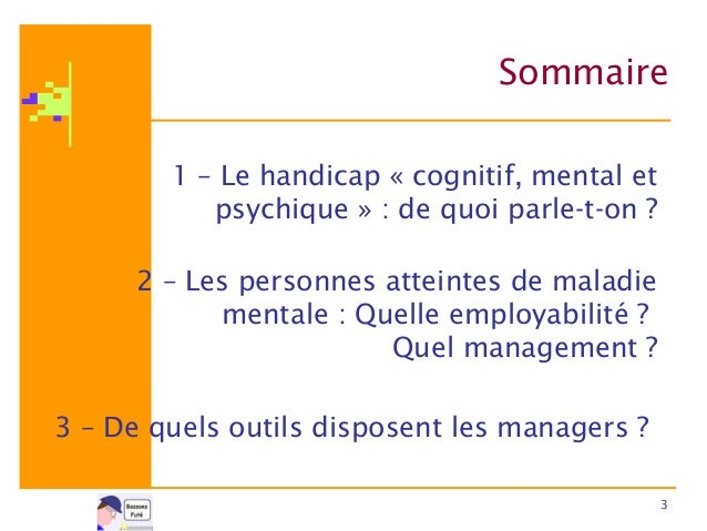 Employabilité et Management du handicap cognitif, mental