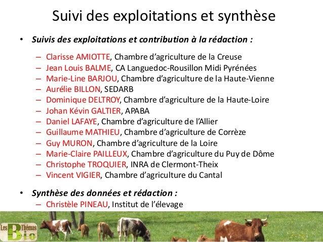Sommet2016 r f rences syst mes en production de viande - Chambre d agriculture haute vienne ...