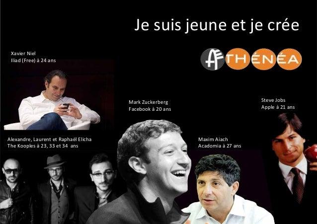 Je  suis  jeune  et  je  crée         Mark  Zuckerberg   Facebook  à  20  ans   Maxim  Aiach...