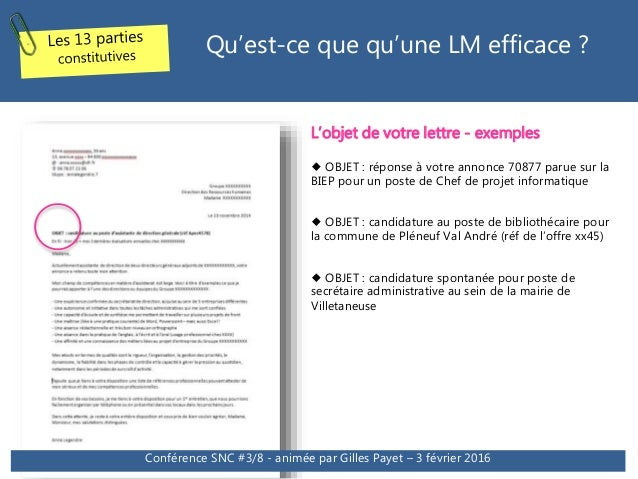 Conference Cv Et Lettres De Motivation Tendances 2016 Et Modeles Co