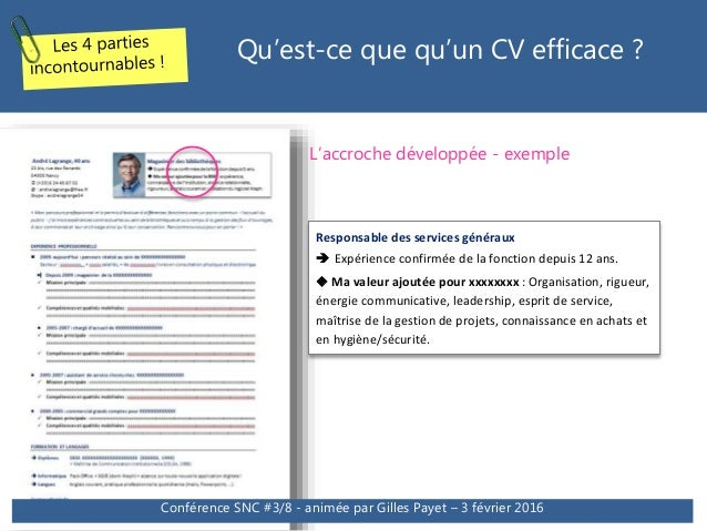 exemple d accroche cv pole emploi