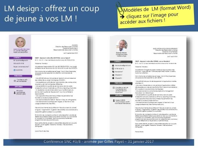 conf u00e9rence cv design  u0026 lm efficaces en 2017