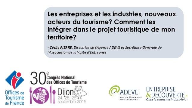 Les entreprises et les industries, nouveaux acteurs du tourisme? Comment les intégrer dans le projet touristique de mon te...
