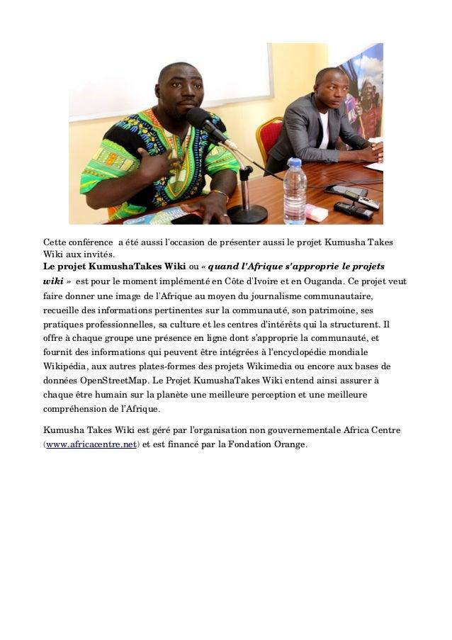 Cetteconférenceaétéaussil'occasiondeprésenteraussileprojetKumushaTakes Wikiauxinvités. LeprojetKumushaTa...
