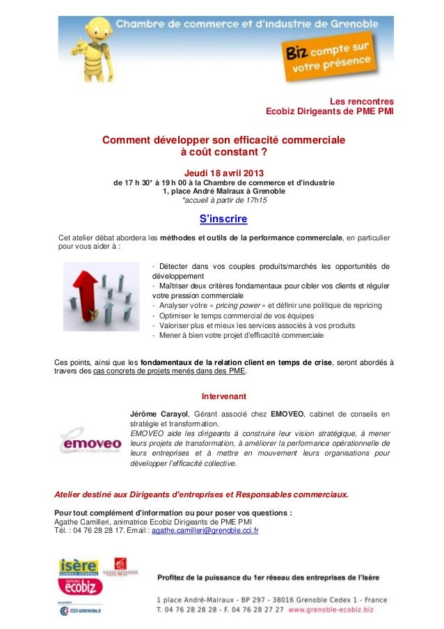 Les rencontres                                                             Ecobiz Dirigeants de PME PMI             Commen...