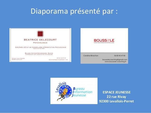 Diaporama  présenté  par  :       ESPACE  JEUNESSE   22  rue  Rivay     92300  Levallois-‐Perret...