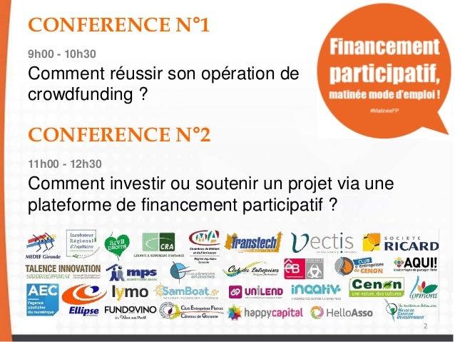 Comment investir ou soutenir un projet via une plateforme de financem - Comment chiffrer un projet ...