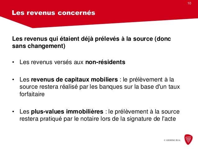 Conference Prelevement A La Source De L Impot Sur Le Revenu Quel Fo