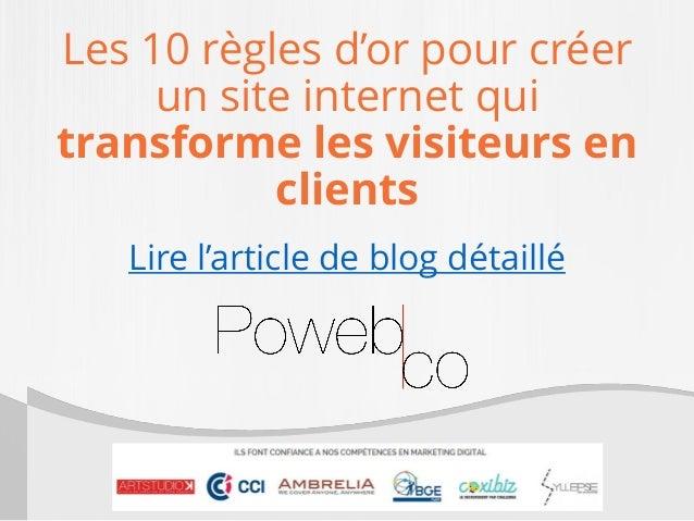 Les 10 règles d'or pour créer un site internet qui transforme les visiteurs en clients Lire l'article de blog détaillé