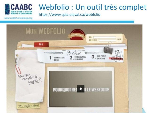Webfolio : Un outil très complethttps://www.spla.ulaval.ca/webfolio