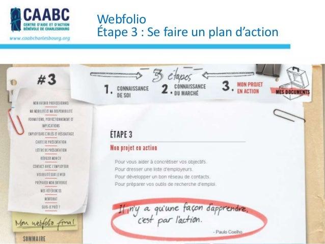 WebfolioÉtape 3 : Se faire un plan d'action