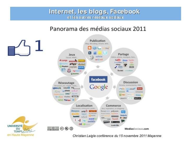 Internet, les blogs, Facebook     et les autres réseaux sociaux   Les autres réseaux sociaux       Christian Laigle confér...