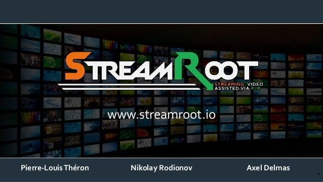 www.streamroot.io  Pierre-Louis Théron  Nikolay Rodionov  Axel Delmas  1