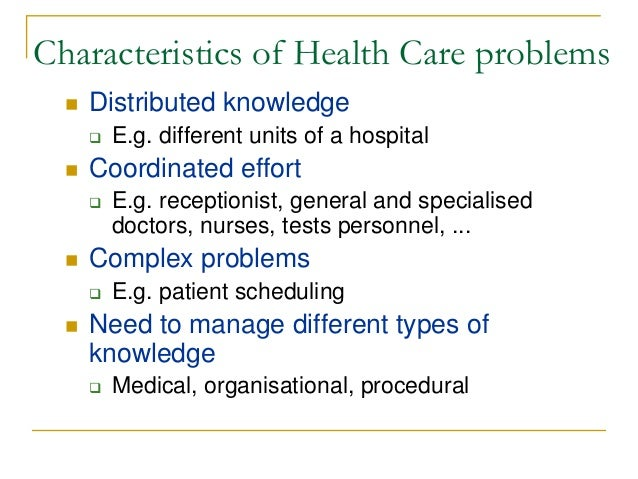 On The Application Of Multi Agent Systems In Health Care