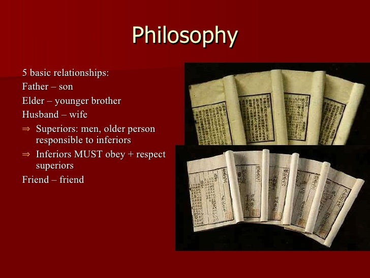 What are the five key relationships according to Confucius?