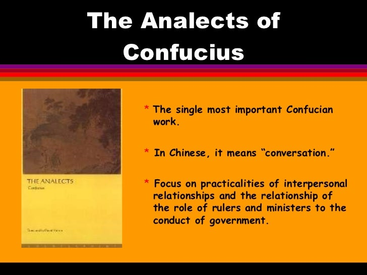 work of confucius