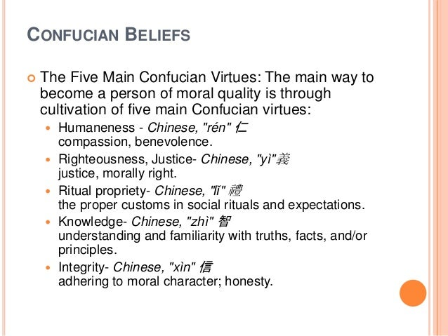 confucian virtues and filipino values Women were at the bottom of the confucian hierarchy  women were expected to demonstrate obedience before all other virtues, and at every stage of life  it was because of social values such .