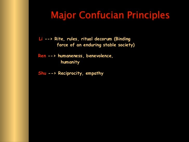 confucian ren Ren and li are the two core concepts of confucius' doctrine about people when  his student fan chi asked him about ren, confucius replied,.