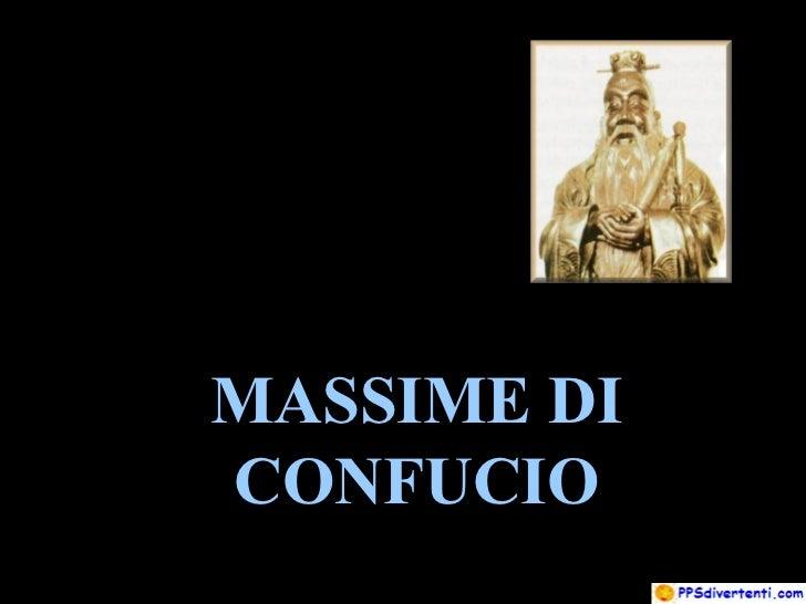 MASSIME DI CONFUCIO
