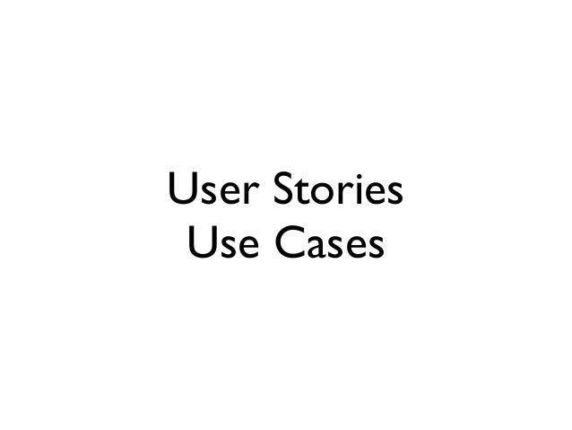 User Stories Use Cases