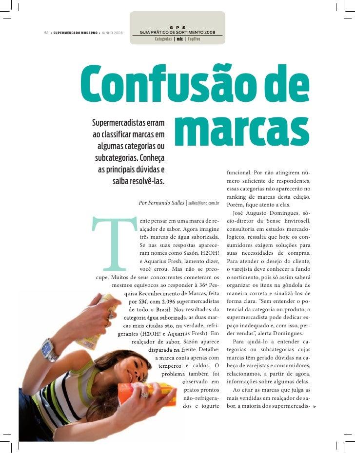 51 • SUPERMERCADO MODERNO • JUNHO 2008                      Confusão de                      marcas                       ...