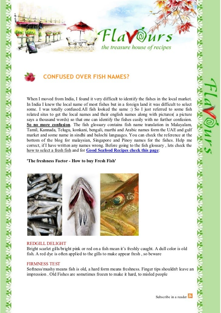 Page 1 of 70     When I moved from India, I found it very difficult to identify the fishes in the local market. In India I...