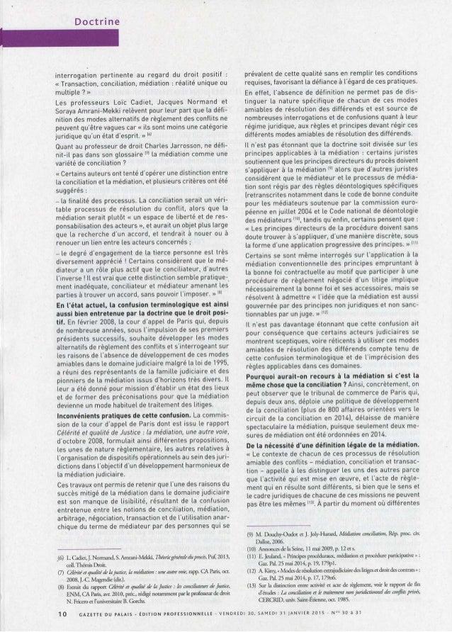 Confusion conciliation mediation