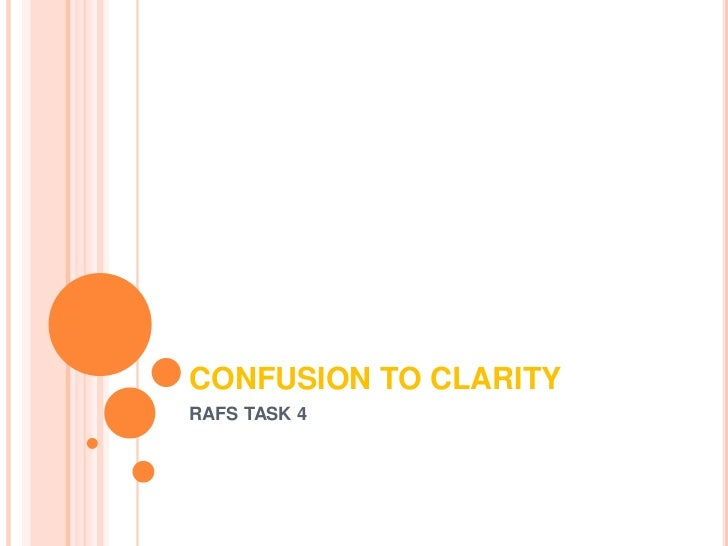 CONFUSION TO CLARITYRAFS TASK 4