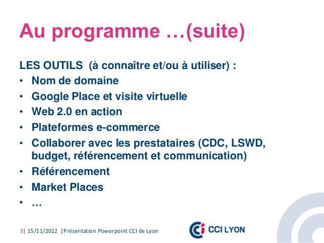 Conf web & creation 2012 CCI de Lyon Slide 3