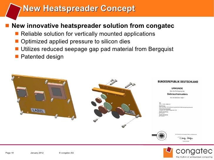 New Heatspreader Concept New innovative heatspreader solution from congatec    Reliable solution for vertically mounted ...