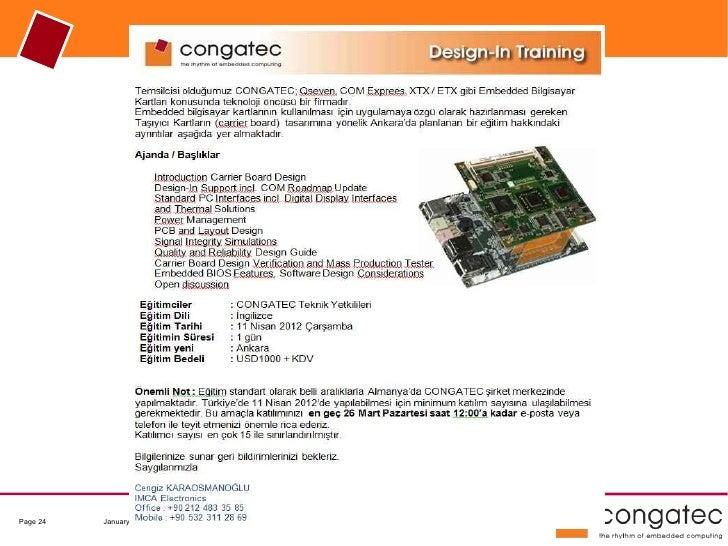 Page 24   January 2012   © congatec AG