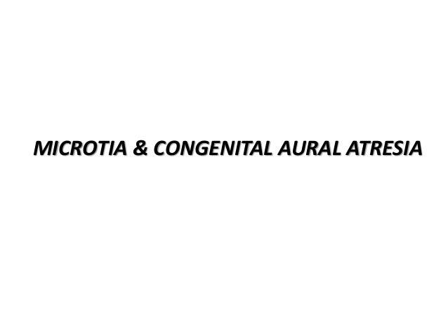 EPIDEMIOLOGY • Microtia and congential auditory atresia occur in approximately 1 in every 6000 live births. • These deform...