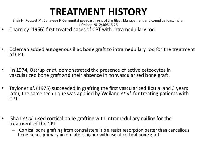 Congenital pseudo arthrosis of tibia