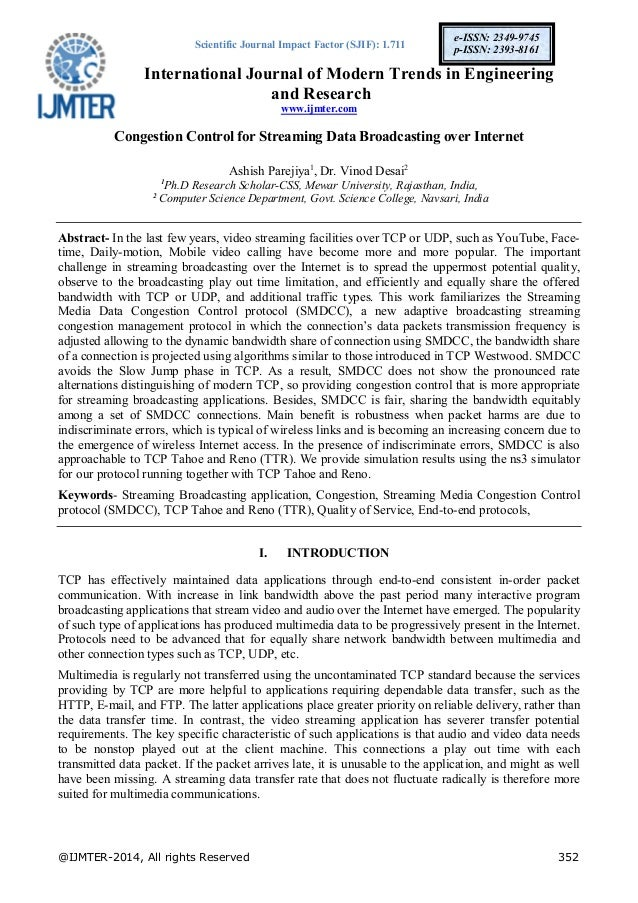 Scientific Journal Impact Factor (SJIF): 1.711 International Journal of Modern Trends in Engineering and Research www.ijmt...