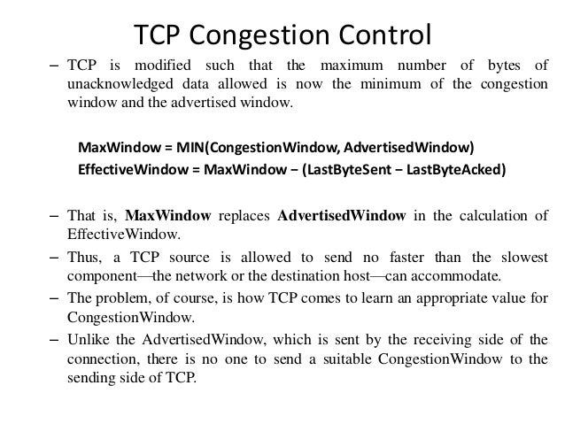 CONGESTION CONTROL IN TCP EBOOK