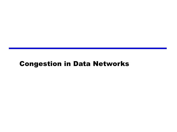 Congestion in Data Networks