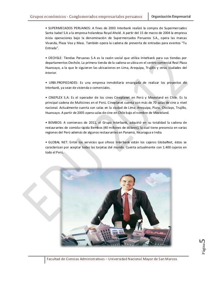 Grupos económicos - Conglomerados empresariales peruanos                       Organización Empresarial       • SUPERMECAD...