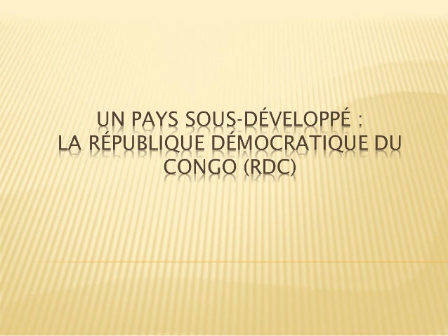  A. Introduction : RDC et ressources naturelles